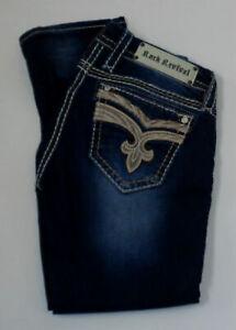 Rock Revival Women's Sorrel Cropped Stretch Capri Jeans, Size: 28 Waist