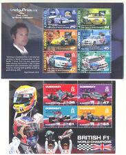 Guernsey F1 Motor Racing Cars 2 Min campeones del mundo HOJAS estampillada sin montar o nunca montada
