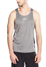 Zoot - Men's Run Surfside Singlet - Black Heather/Sub Atomic Yellow - Extralarge