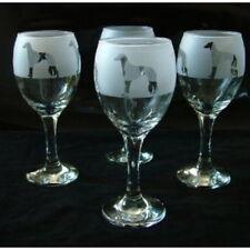 More details for saluki dog gift wine glasses set of 4
