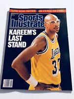 1989 Sports Illustrated LOS ANGELES Lakers KAREEM ABDUL JABBAR Last Stand No Lab