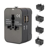 Adaptateur de voyage universel international double prise USB AU / UK / US / EU