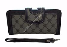 Women's ladies Fabretti Large Wrist Wallets ID Card Holder Coin Purse Money Bag