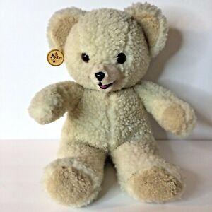 "Vintage 1986 Russ Snuggle White Bear Plush Stuffed Animal 14"" With Hang Tag"