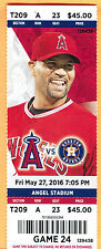 ANGELS ALBERT PUJOLS HR #570 FULL SEASON TICKET-5/27/16-ASTROS