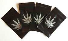 100 Black With Silver Leaf Printed Ziplock Baggies Bags Smell Proof 40mm x 60mm