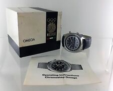 LOVELY VINTAGE OMEGA 41MM JUMBO CHRONOSTOP WITH BOX AND BOOKLET.