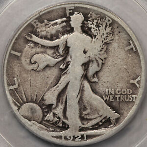 1921-S Walking Liberty Half Dollar PCGS G-6. Just Honest Wear!