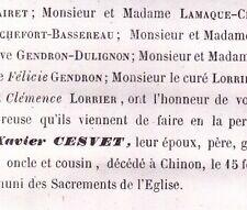 Pierre Xavier Cesvet Chinon Indre-et-Loire 1859