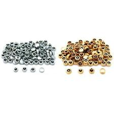 200 Assorted Watch Crowns For Watch Repair (100) Gold & (100) Chrome