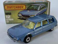 Vintage Lesney Matchbox 75 Superfast 12 Citroen Cx With Original Box Wagon Nice!