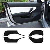 Carbon Fiber Cover Sticker Anti-Kick Pad Protector Mat For Tesla Model 3/X/S Top