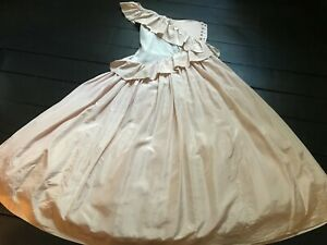 Vintage 80's Catherine Walker ivory silk asymmetrical frilly wedding bride dress