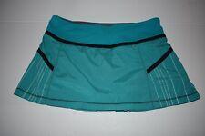 Lululemon Pace Setter Skirt Shorts Skort Pleated Teal Size 8