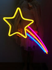 New Shooting Star Up Neon Light Sign Lamp Beer Pub Acrylic 14""