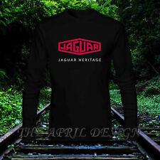 RARE Jaguar Heritage P200 logo Men's Clothing classic logo T-Shirt Long Sleeve