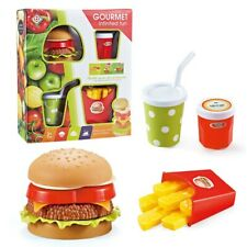 Realistic Hamburger Fries Lifelike Simulation Fake hamburger Bakery Display