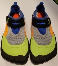 Newtz Kids Water Shoes Toe Bumpers Blue And Green Shoes Size 11/12