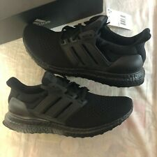 NIB Adidas UltraBoost 1.0 Triple Black Boost PK Prime Knit Shoes Size 10 Runners