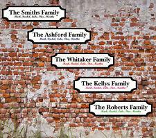 Personalised Surname Street Sign Metal Wall Door Bedroom Plaque Family Gift