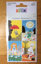 Moomin stickers, 3 sheets!  FREE SHIP, from Finland, fun gift idea crafts kids