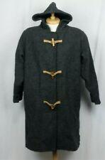 Vintage Woolrich Women's Size Medium Toggle Coat Gray Charcoal Wool Blend EUC