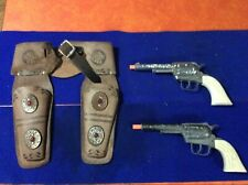 Old,Original, 1950's Pony Boy, USA, toy pistol cap gun's, with leather holster's