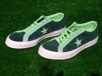 Men's Converse One Star Low OX Suede Ponderosa Pine &  Lime 161614C Size 9 New