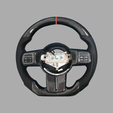 100% Real Carbon Fiber/Leather Car Steering Wheel For Jeep Wrangler