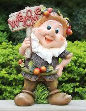 XL Zwerg Design 9407-2 33 cm Hoch  Garten Gartenzwerg Figuren Dekoration