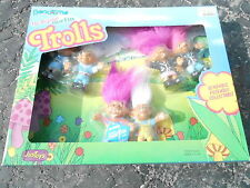 1992 Justoys Bend-Ems Original Norfin Trolls 6 doll playset Nrfb (S5)