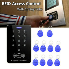 125KHz RFID Access Control System Security ID Card Password Entry Door Lock Keys