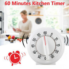 Round 60 Minutes Mechanical Kitchen Cook Cooking Timers Food Preparation Baking