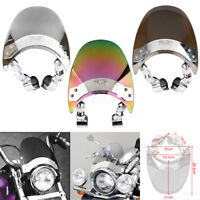 Motorcycle Windscreen Windshield For Harley Dyna Softail Sportster XL883 1200