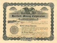 Hartford Mining Corporation > 1904 Arizona old stock certificate share
