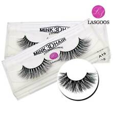 Popular 2Pairs 100% Real Mink Fur Cross Messy Natural 3D False Eyelashes Makeup