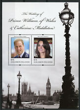 Solomon Islands 2011 MNH Royal Wedding Prince William Kate 2v S/S Royalty Stamps
