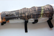 Hunting Armguard Archery Bow Leather Protective Gear Arm Guard with 4Straps Camo