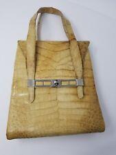 Vintage Esteve Beige Snakeskin  Handbag - Spain