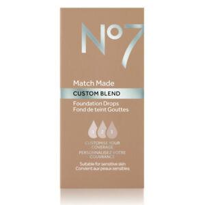 No7 Match Made Custom Blend Foundation Drops - 15ml - Choose your Shade