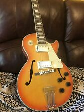 Semi Hollow Single Cut Electric Guitar Strawberry Blonde Burst