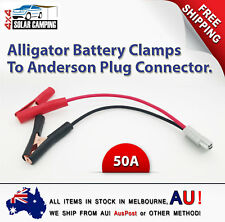 Alligator Battery Clamps To 50A Anderson Plug with 8 sqmm Lead - 30cm long