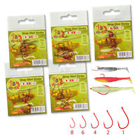 Drop Shot Hooks Wide Gap Red Perch Fishing Soft Lures Micro Fish Bait Worms