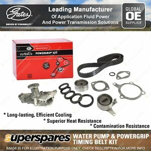 Gates Water Pump & Timing Belt Kit for Ford Capri SA SB SC SE Laser KE KH