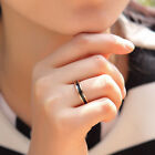 18K Rose GOLD Filled Women's Fashion Wedding Engagement Band Ring Jewelry Gift