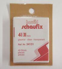 Hawid Clear Stamp Mounts 41/31 40 pieces US Semi Jumbo (m20)