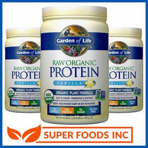 Garden of Life Raw Organic Protein Vanilla 624g Non-Gmo Plant Based Gluten Free