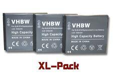 3x Akku wie Samsung SLB-07A 550mAh 3.6V Li-Ion