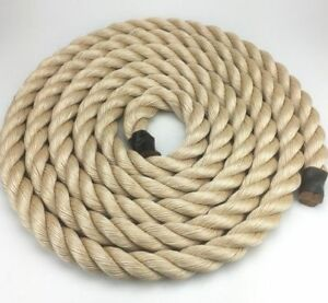 36mm Synthetic Sisal Decking Rope Stair Handrail Natural Bannister Gym 5 MTRS
