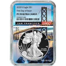 Presale - 2020-S Proof $1 American Silver Eagle NGC PF70UC FDI San Francisco Cor